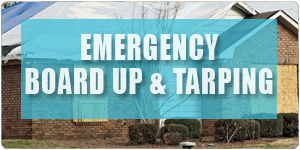 Emergency Board up Tarping